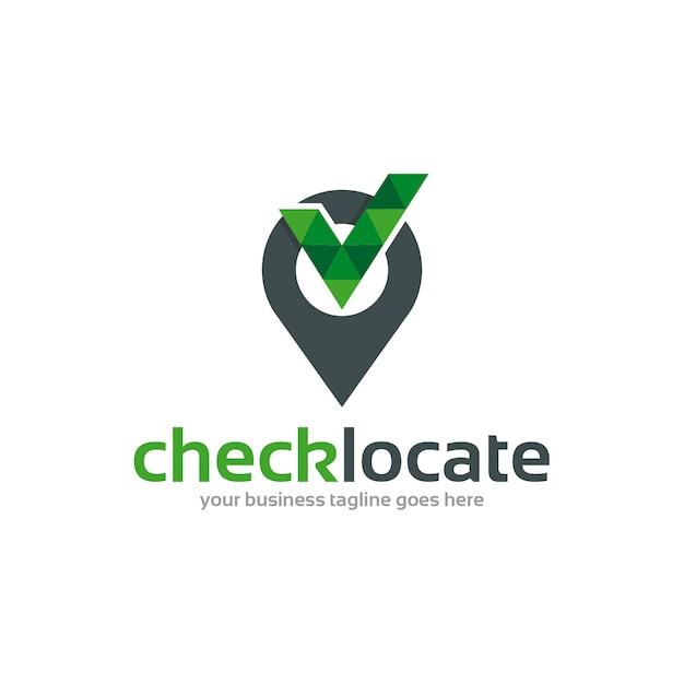 Verifica creativa trova il logo Vettore Premium