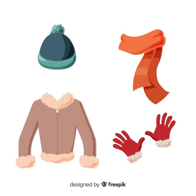 Vestiti invernali essenziali ed essenziali Vettore gratuito