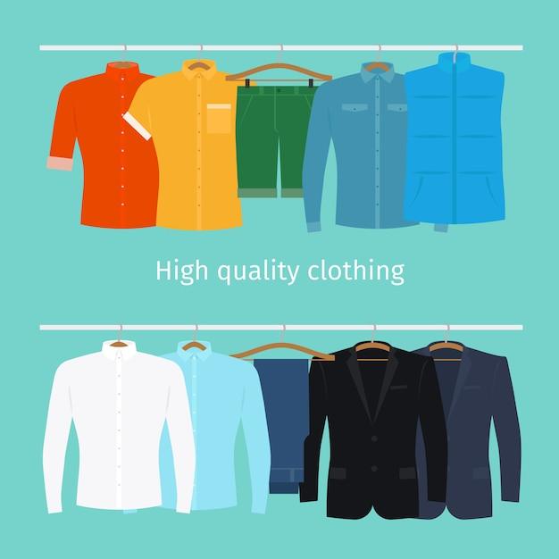 Vestiti sui ganci Vettore Premium