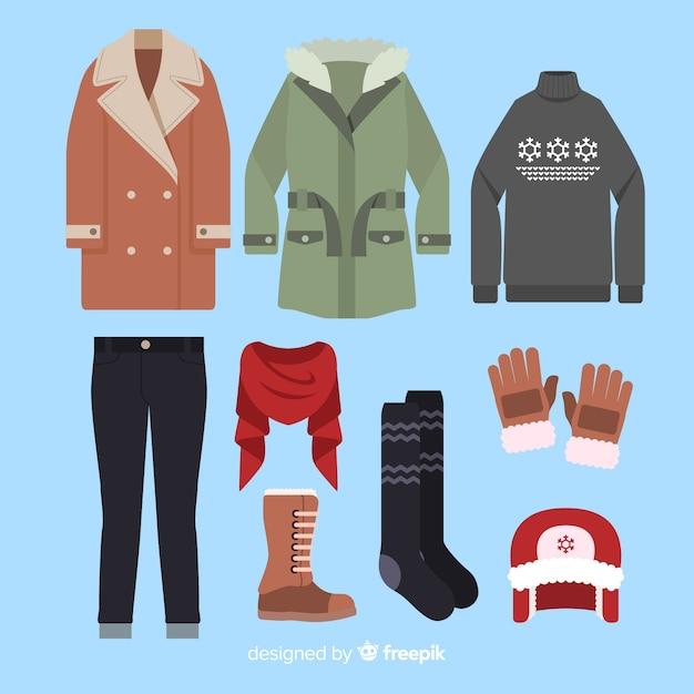 Vestito piatto invernale Vettore gratuito
