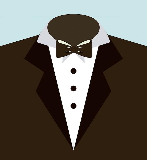 Vestito uomo Vettore Premium