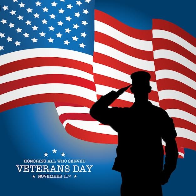 Veterani sfondo di giorno con bandiera e soldato - Papaveri e veterani giorno di papaveri e veterani ...
