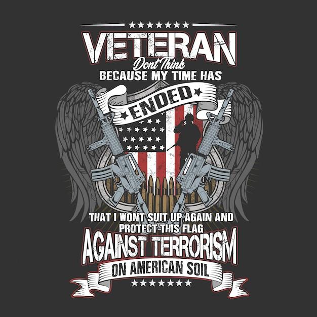 Veterano sul suolo americano Vettore Premium