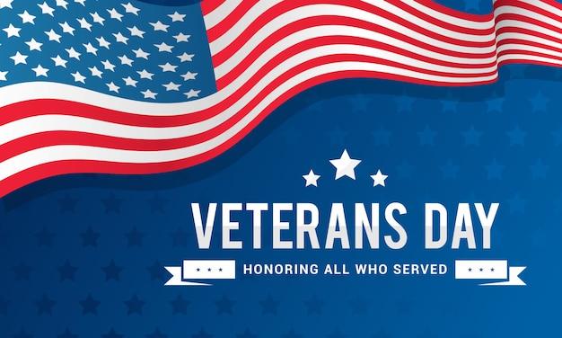 Veterans day background Vettore Premium