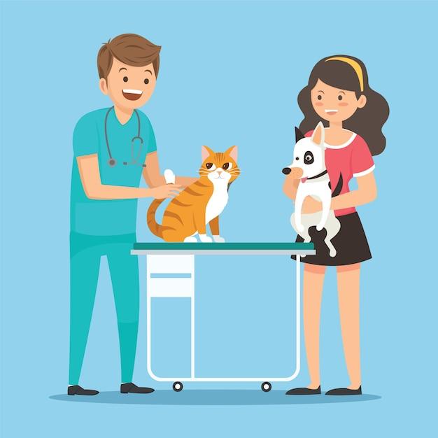 Veterinario di professione Vettore Premium