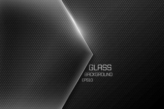 Vetro sfondo nero in carta tagliata Vettore Premium