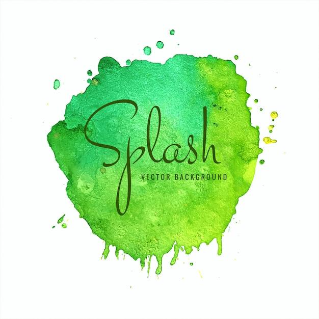 Vettore astratto colorato morbido splash dell'acquerello Vettore Premium