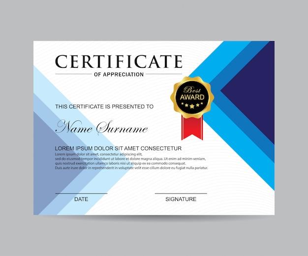Vettore certificato moderno Vettore Premium
