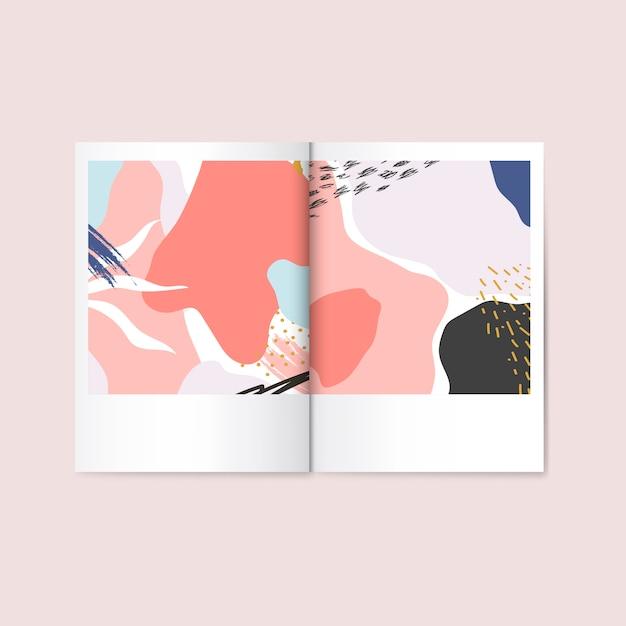 Vettore colorato della rivista di progettazione di memphis Vettore gratuito