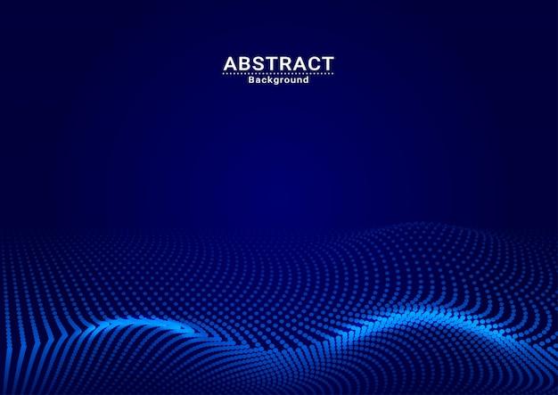 Vettore completo del punto blu scuro del fondo astratto Vettore Premium
