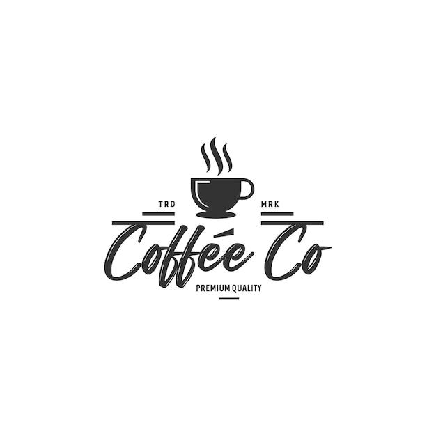 Vettore d'annata delle azione dei distintivi di logo del caffè Vettore Premium