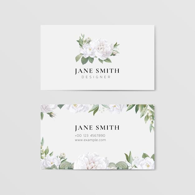 Vettore del modello della carta dell'invito di nozze del fiore Vettore Premium