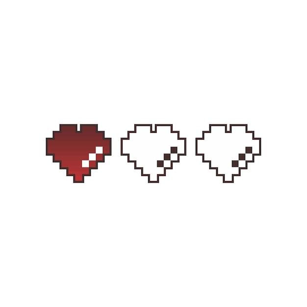 Vettore di arte del pixel di giorno di san valentino Vettore Premium