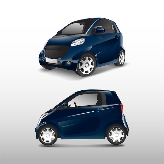 Vettore di auto ibrida compatta blu Vettore gratuito