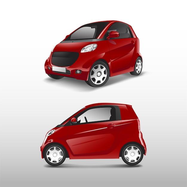 Vettore di auto ibrida compatta rossa Vettore gratuito