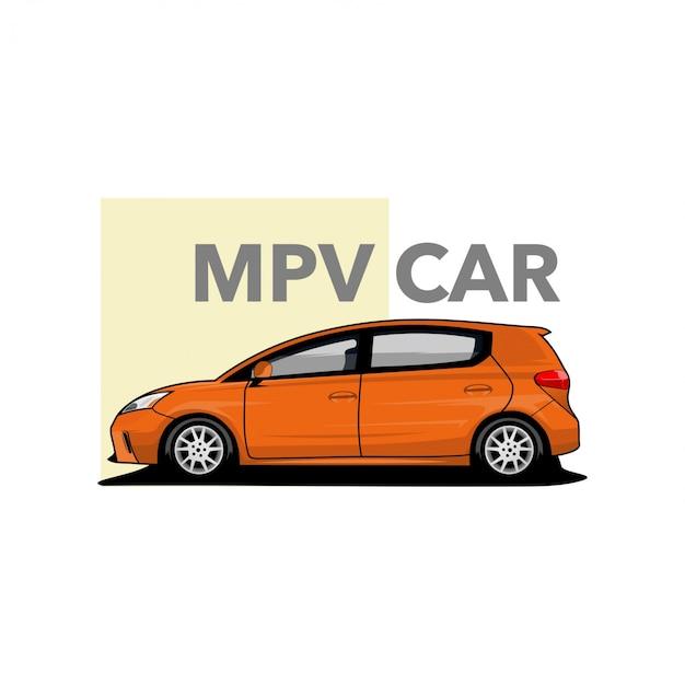 Vettore di auto mpv Vettore Premium