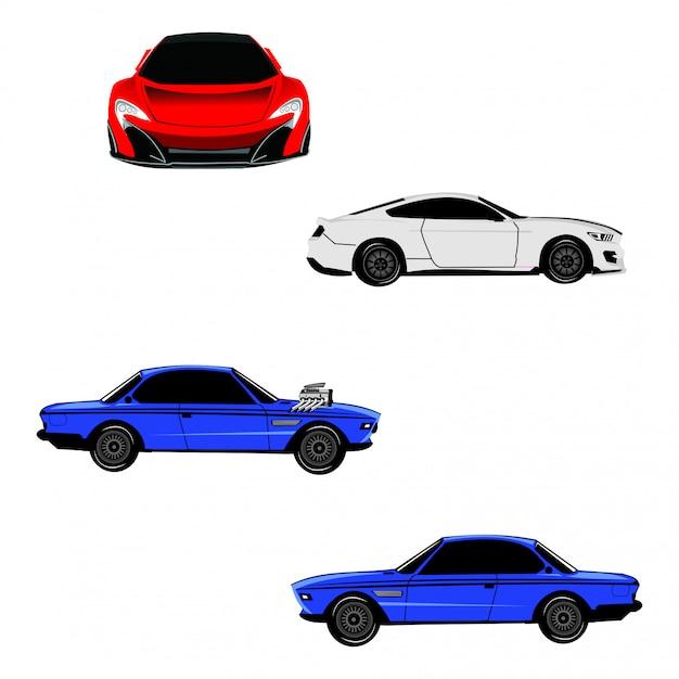 Vettore di auto sportiva Vettore Premium