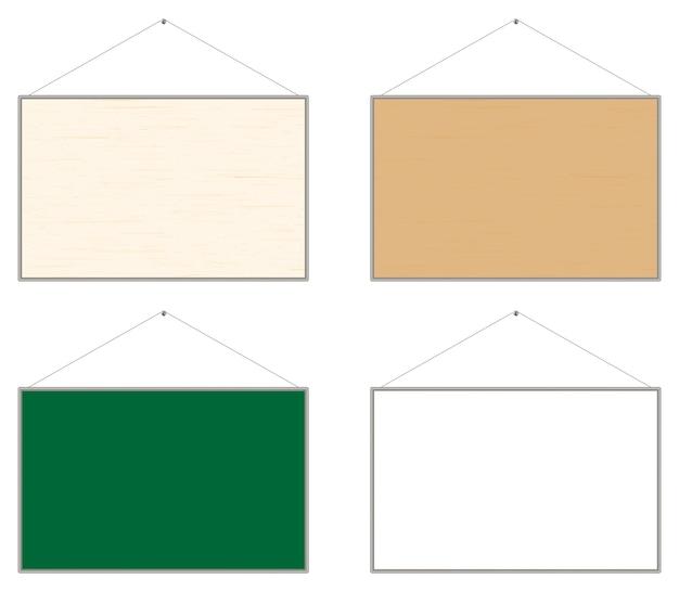 Vettore di bacheca in legno bollettino Vettore Premium
