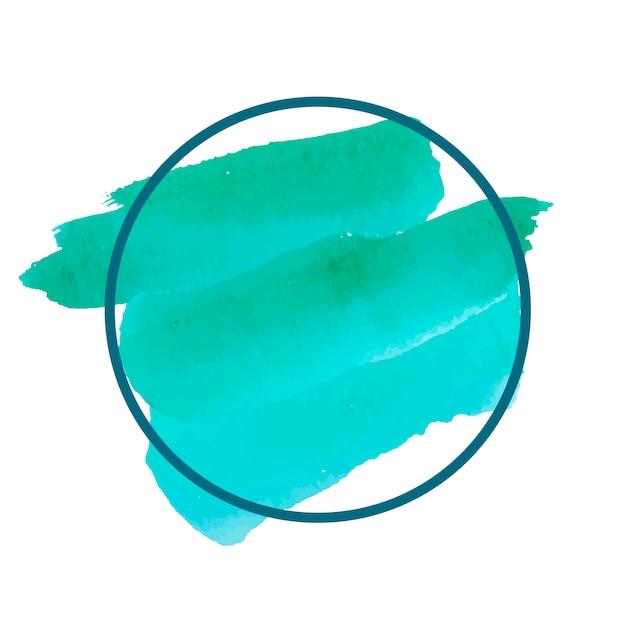 Vettore di bandiera dell'acquerello verde rotondo Vettore gratuito
