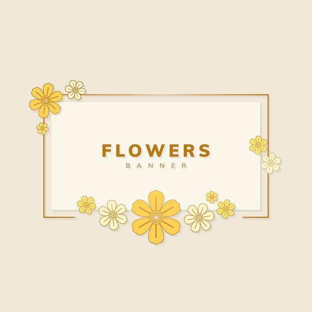 Vettore di bandiera floreale Vettore gratuito