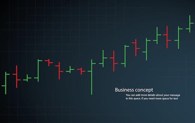 Vettore di borsa stock grafico grafico a barre Vettore Premium