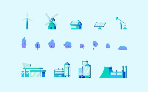 Vettore di concetto di risparmio energetico in blu Vettore gratuito