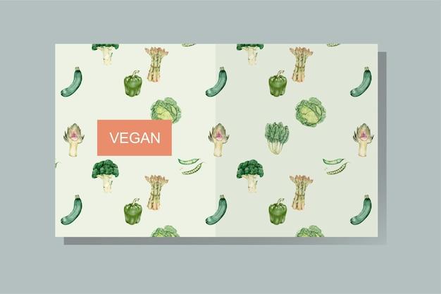 Vettore di copertina del libro vegan Vettore gratuito
