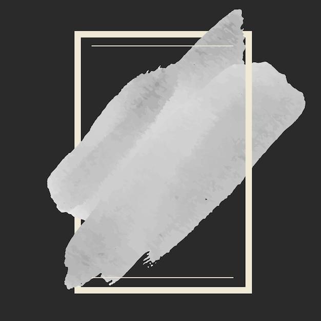 Vettore di disegno della bandiera dell'acquerello grigio Vettore gratuito