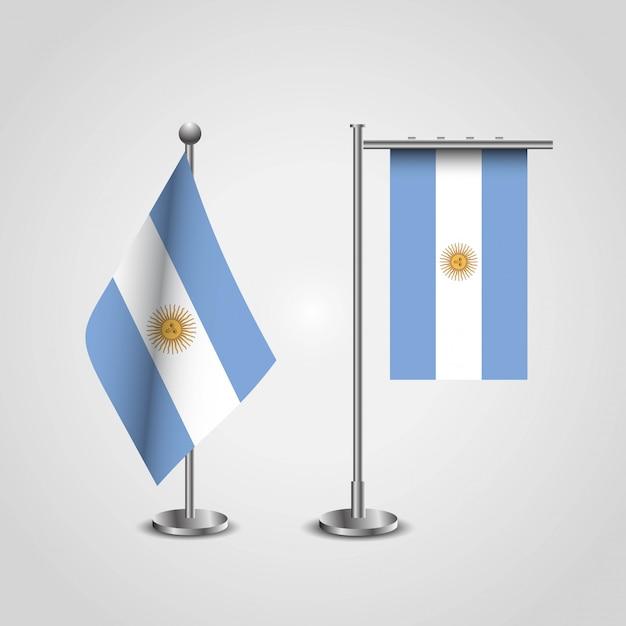 Vettore di disegno delle bandiere dell'argentina Vettore Premium