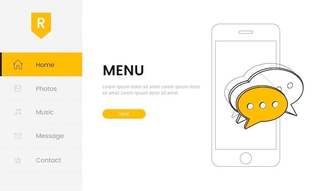 Vettore di elementi del sito web per il web design for Design sito