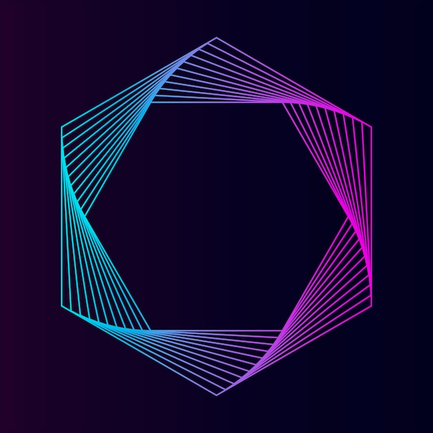 Vettore di elemento geometrico esagono astratta Vettore gratuito