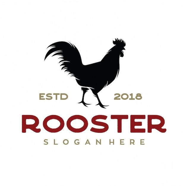 Vettore di ispirazione di logo dell'azienda agricola di pollo Vettore Premium