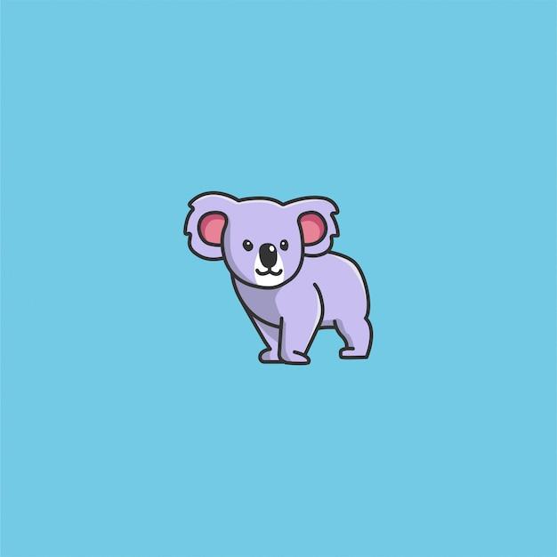 Vettore di koala carino Vettore Premium