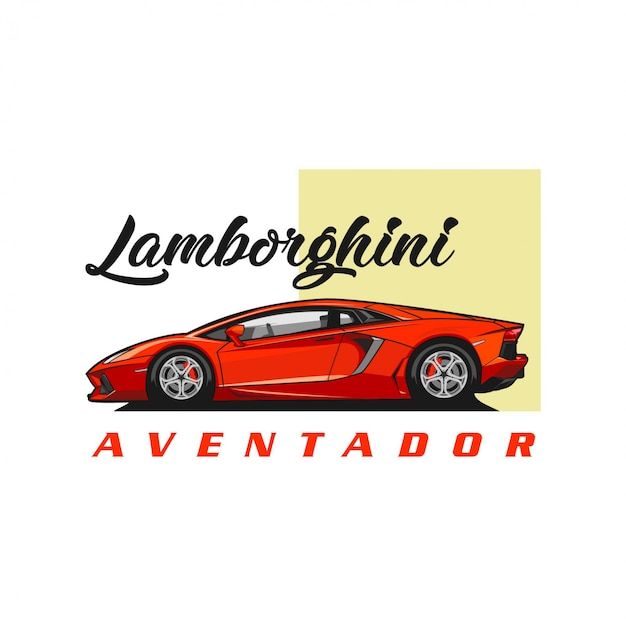 Vettore di lamborghini aventador Vettore Premium