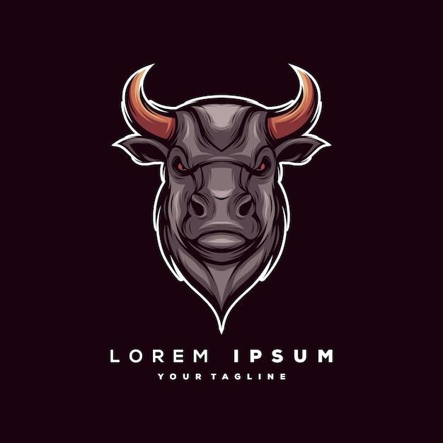 Vettore di logo del toro Vettore Premium