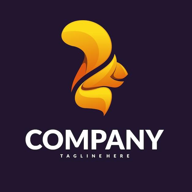 Vettore di logo dello scoiattolo Vettore Premium