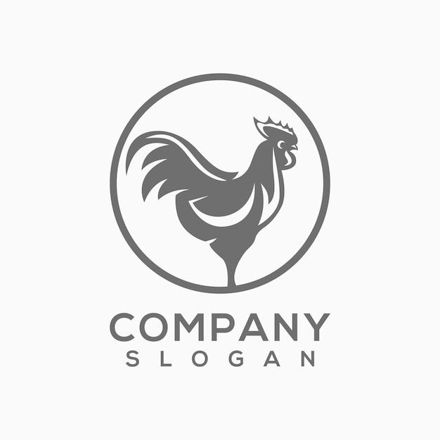 Vettore di logo di pollo Vettore Premium