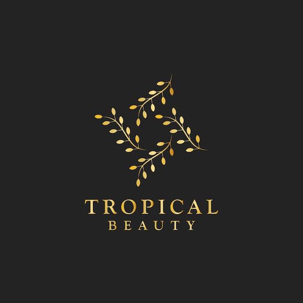 Vettore di logo di progettazione di bellezza tropicale Vettore gratuito