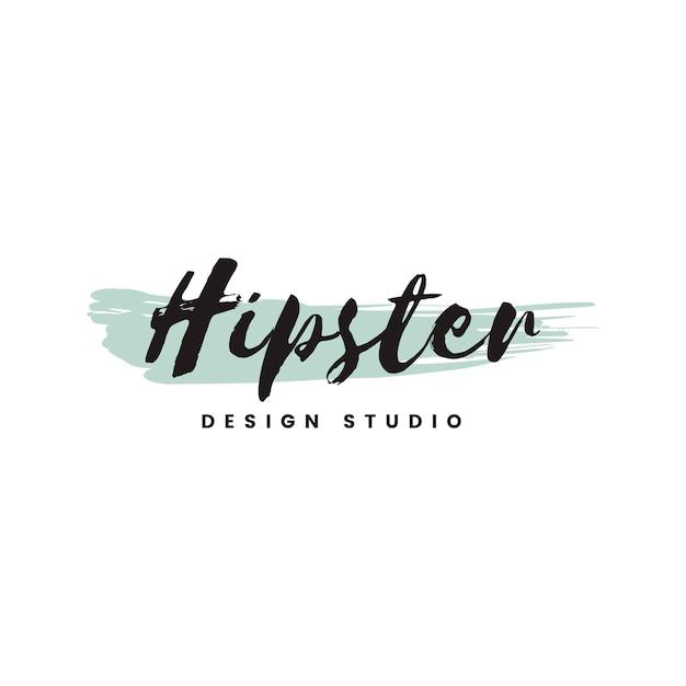 Vettore di logo di studio design hipster Vettore gratuito