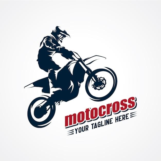 Vettore di logo extreme motocross premium vector Vettore Premium