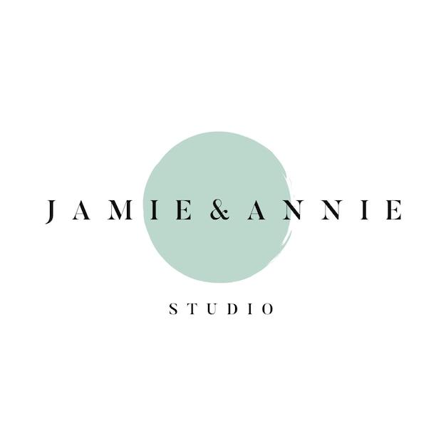 Vettore di logo studio jamie e annie Vettore gratuito