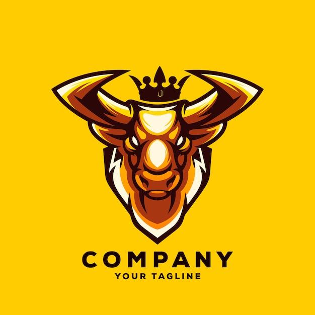 Vettore di logo toro impressionante Vettore Premium