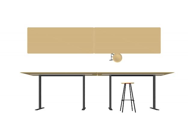 Vettore di mobili in legno Vettore Premium