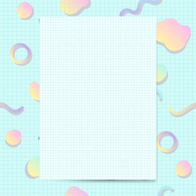 Vettore di mockup di carta pastello girly Vettore gratuito