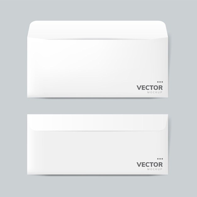 Vettore di mockup di progettazione busta di carta Vettore gratuito