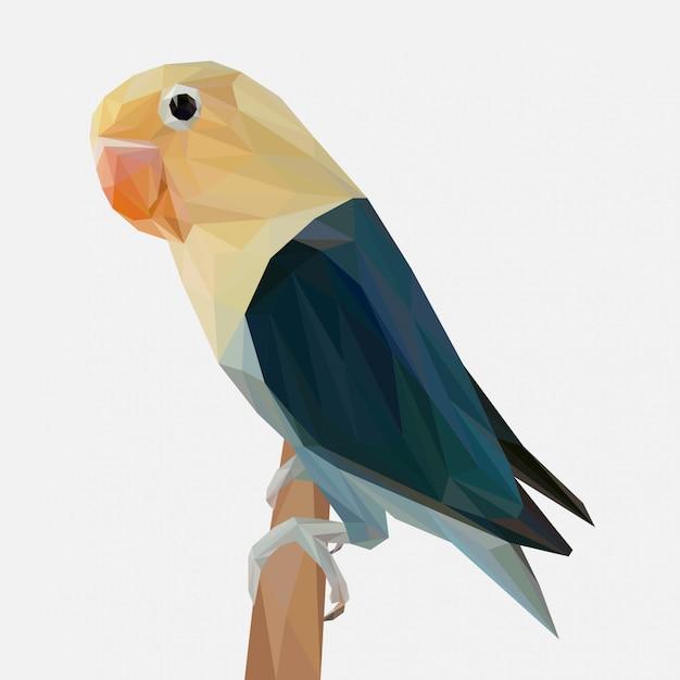 Vettore di piccioncini con stile lowpoly Vettore Premium