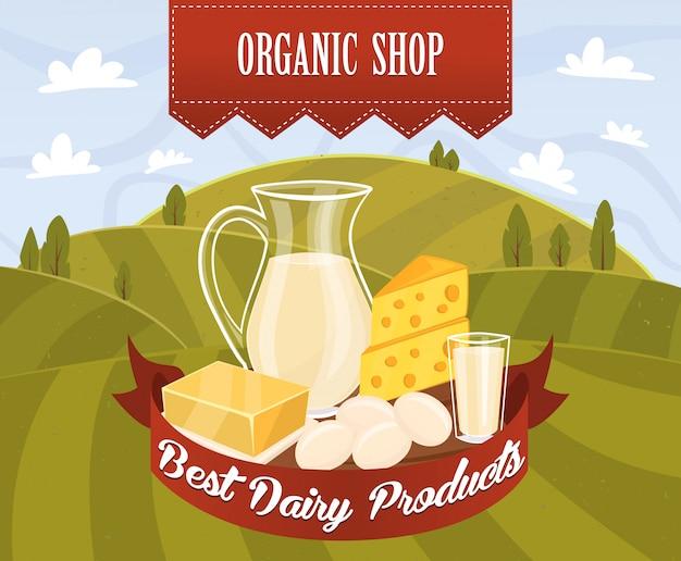 Vettore di prodotti lattiero-caseari Vettore Premium