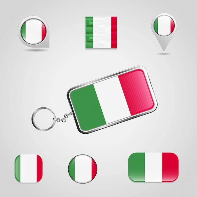 Vettore di progettazione della bandiera dell'italia Vettore gratuito
