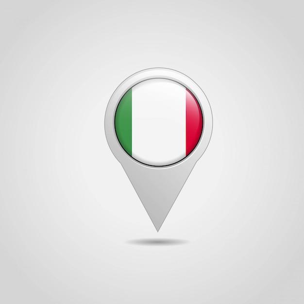 Vettore di progettazione di navigazione della mappa della bandiera dell'italia Vettore gratuito