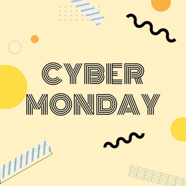 Vettore di promozione dello shopping online di cyber monday Vettore gratuito